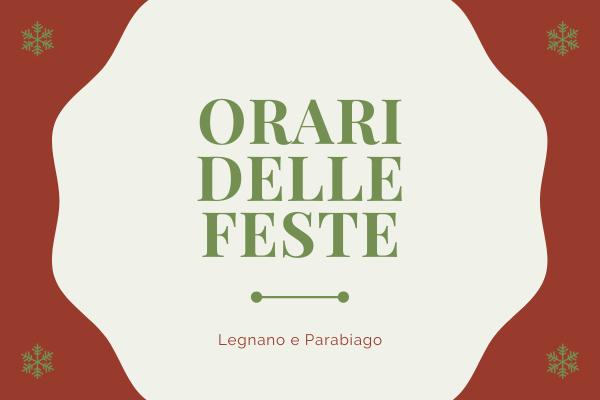 Orari delle Feste del MUU di Parabiago e Legnano